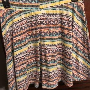 Mossimo Multi Colored Skirt